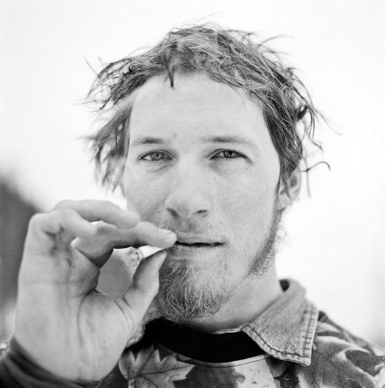 B&W Portrait Ben Lynch photographed in winter park CO. Portrait Blackandwhite Smoking Mediumformat Hasselblad Film Kodak Tri-X 400