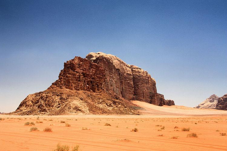 Arid landscape in jordan