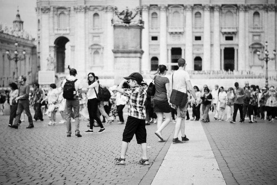 Young photographer #2 // VSCO Vscocam Black & White Blackandwhite Monochrome Nikonphotography Nikon D5200 Nikon Childhood Kids