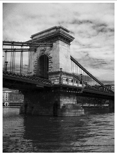 Chain Bridge - Széchenyi lánchíd Beautiful Budapest EyeEm Best Shots Hungary Architecture Bestoftheday Blackandwhite Bridge Bridge - Man Made Structure Building Exterior Built Structure Chain Bridge Cloud - Sky Connection Day Landscape Low Angle View No People Outdoors People Photography Picoftheday River Sky Suspension Bridge Transportation Travel Destinations Water