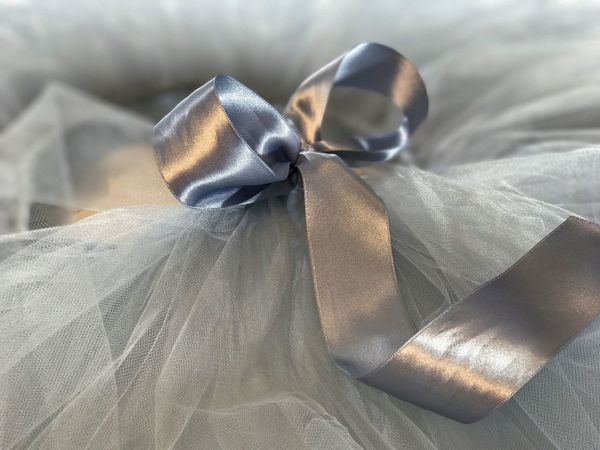 Tulle skirt with ribbon in close up done with iphone7 Skirt Tiul  Tutudress Tutu Tulleskirt Tulle Tullefabric Tulle Skirt Tulle Fabric Tulledress Grey Original Modern Girl Wedding Party Dress Up Clothes