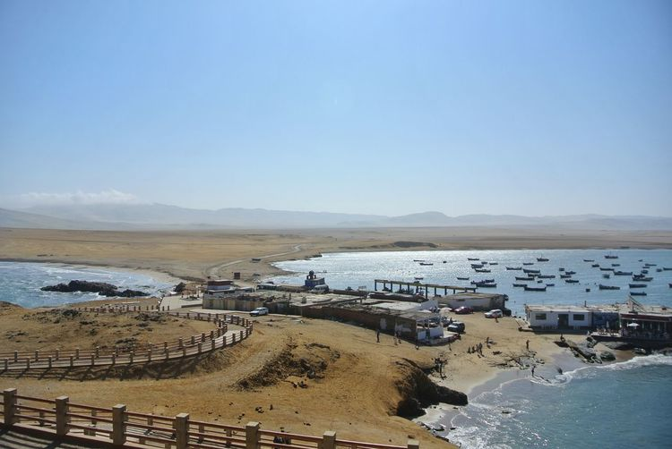 Paracas national reserve. EyeEm Nature Lover Fishing Boat Fishing Hiking Desert Sand Dune Travel Paracas Paracas National Park Ica Peru Pacific Ocean Nature Photography Nature Water Sea Wave Beach Sand Low Tide Blue Summer Clear Sky Pebble View Into Land Wide Shot Coastal Feature Seascape Coast Wide