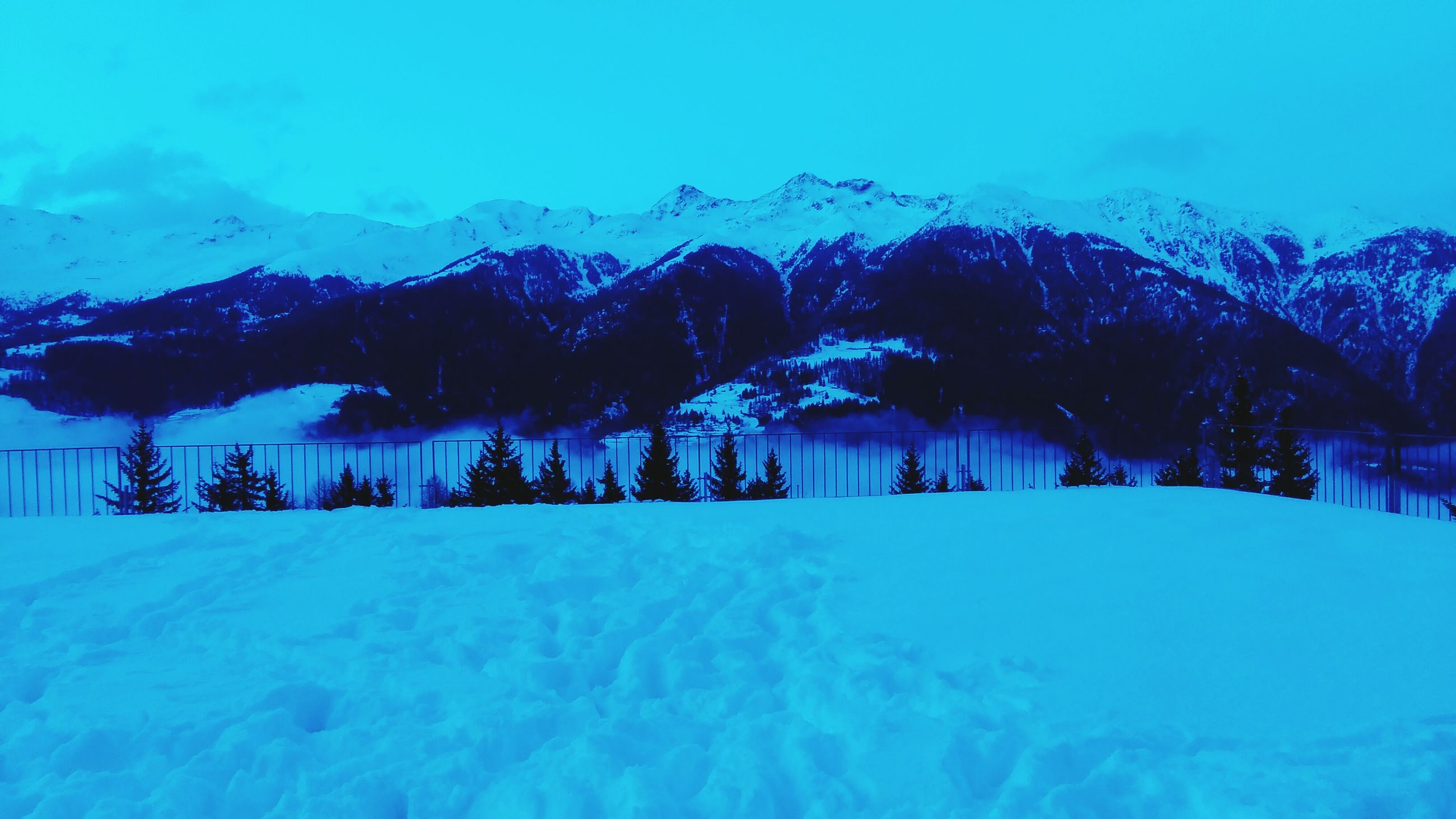 snow, winter, cold temperature, season, mountain, weather, covering, blue, tranquil scene, snowcapped mountain, house, landscape, tranquility, building exterior, beauty in nature, mountain range, frozen, nature, scenics, architecture