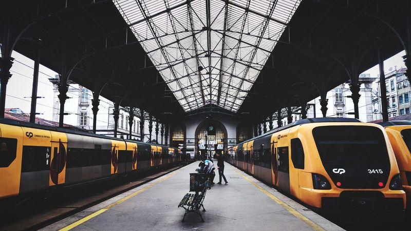Trainstations Mode Of Transport Transportation Train - Vehicle Rail Transportation Travel Journey Railroad Station Architecture Indoors  Day People Porto Portugal 🇵🇹