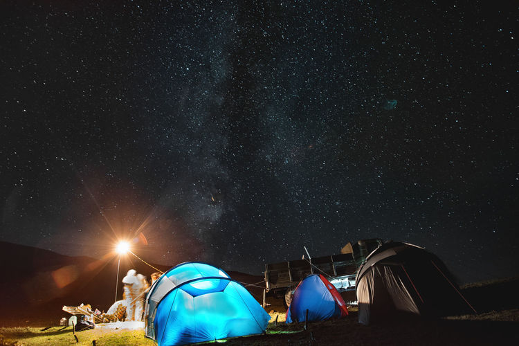 Askhi montain Night Star - Space Tent Sky Camping Astronomy Space Illuminated Nature Star Scenics - Nature Star Field Galaxy Built Structure Beauty In Nature Architecture Outdoors Infinity No People Adventure Milky Way My Best Photo
