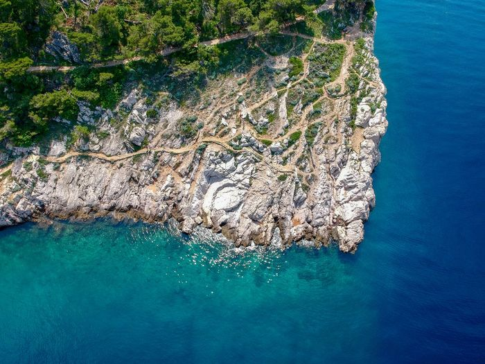 Makarska Nationalpark Drone  Dronephotography Droneshot Water Sea Nature Beauty In Nature High Angle View No People Day Scenics - Nature Tranquility Outdoors Waterfront Aerial View Sunlight Land