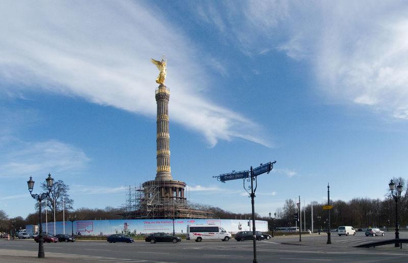 Siegessaule Triumphal Column against cloudy sky