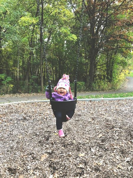 Baby Babygirl Infant Park Swing Autumn Fall Smile Happy Happy Baby Sweaterweather Chilly Asian  Asian Baby Girl Asian Baby  Child Kids Children Daughter Chubby