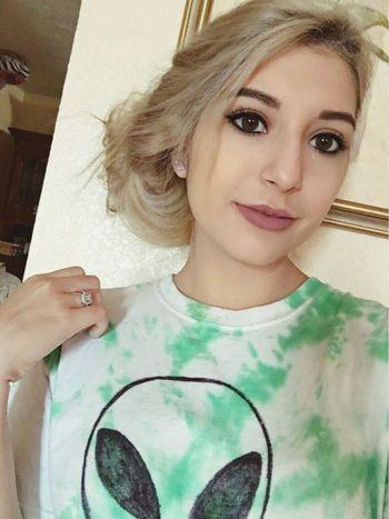 Selfie ✌ Homemade Tie Dye Alien Shirt Kylielipkit