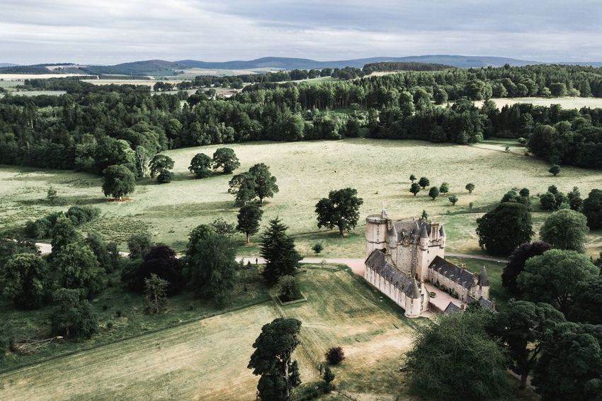 Castle Fraser Aberdeenshire Scotland National Trust Nts National Trust Scotland Scottish Castle Castle Trail Visit Scotland Scottish Scenery Scottish Tourism History Kemnay Mountains And Sky Castle Fraser Green Nature Tree Golf Course Sport Sky Cloud - Sky Farmland