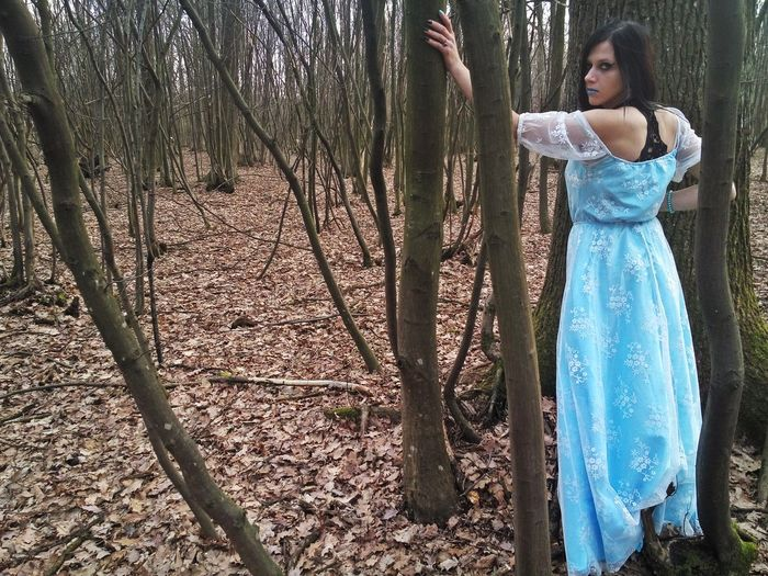 / Shooting: -BLUE MOON-/ / Dress/haljina: Lunatik Shop / / Photographer: April Maljicki Photography / / Model: Merima Karahodžić / #Dark #Dress #EyeEmNewHere #Eyes #Look #Nature  #model #outfit #OOTD #photography #portrait #witch Adult Beautiful Woman Beauty Day Fashion Model Full Length Nature One Young Woman Only Only Women Outdoors People Standing Tree Young Women