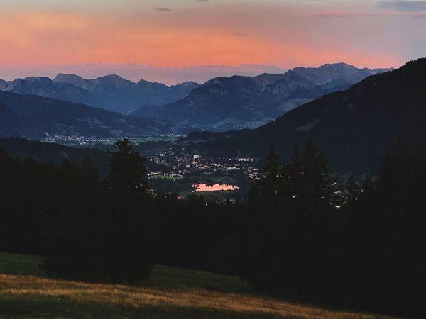 Betterlandscapes Mountain Beauty In Nature Nature Tranquil Scene Mountain Range Tranquility Scenics Sunset Landscape No People Outdoors Sky Allgäuer Alpen Alps Alps Germany Alpsee, Allgäu