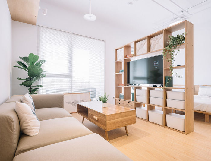Home Showcase Interior Living Room Space Luxury Furniture Home Interior Modern Sofa Window Architecture