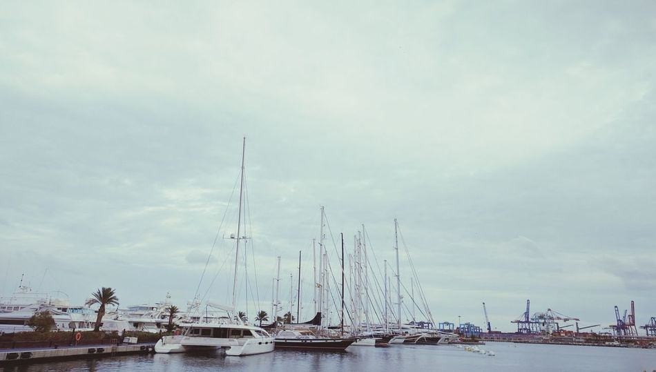 Nautical Vessel Mode Of Transport Transportation Sky Mast Water No People Moored Outdoors Harbor Sailboat Day Nature Sea Sailing Cloud - Sky Beauty In Nature Yacht