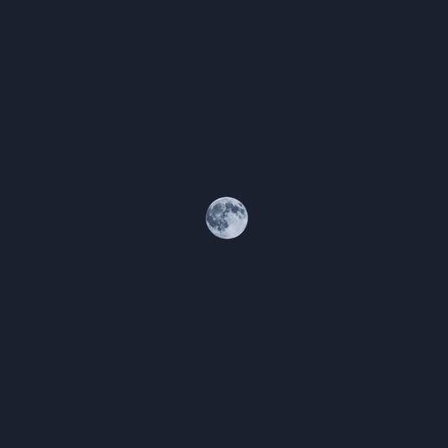 Moon Blue Moon Night Space Minimalism Vscocam