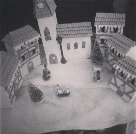 Village de nöel fait main. Noël Village Rêve