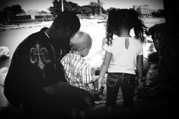 Amazingdad Daddyskids Love Black And White