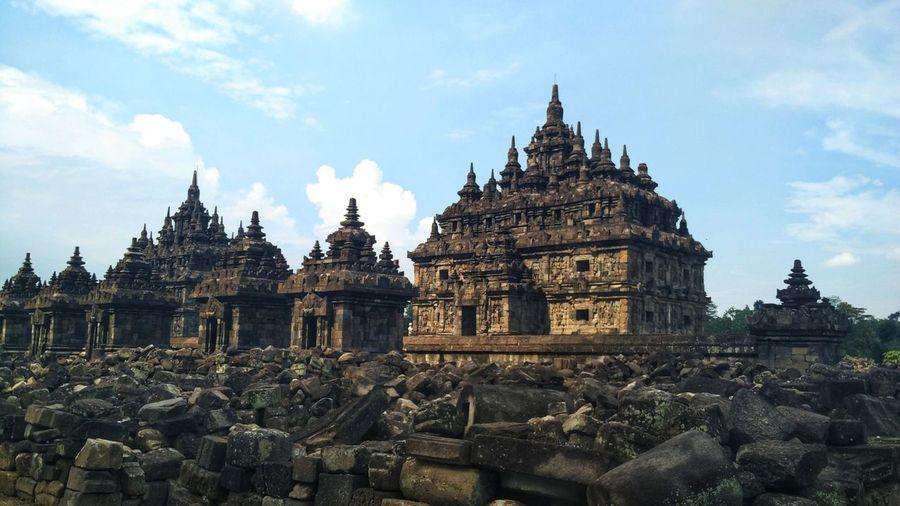 Stupas of building against sky