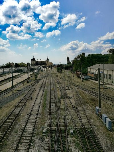Train Station Haydarpasa Railway Station Blue Railway Sky And Clouds Railroad Track