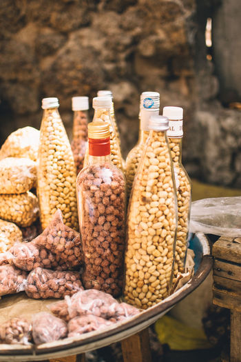 Africa EyeEm Nature Lover EyeEmNewHere EyeEm Best Shots Container Food And Drink Food Still Life Variation Freshness Choice No People Bottle Large Group Of Objects Wellbeing Focus On Foreground Retail  Day Indoors  Healthy Eating Close-up Ingredient Abundance Glass - Material Peanuts