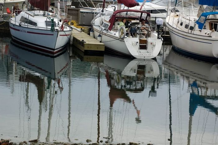 Barcos Barcos De Vela Boat Boats Canada Reflection Reflexo  Vancouver Vancouver BC
