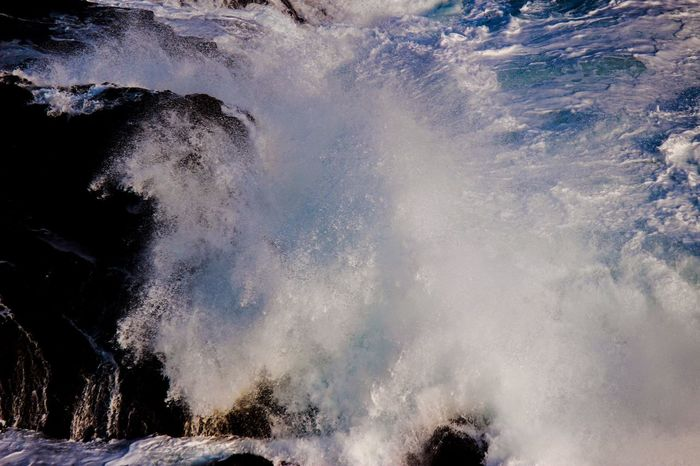 Photography In Motion Water Saltwater Water In Motion Nature Nature Photography Beach Rock Flashing  Splashing Naturelovers Nature_collection Ocean Power In Nature Power