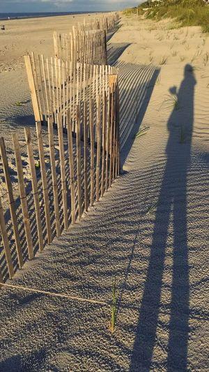 Coffee Favorite Places Ocean Hilton Head Island, SC Human Figure Morning Distance Shadow Sunlight Sand Beach Fence