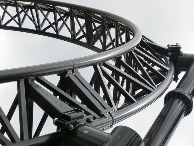 AltonTowers Closeup Metal Ride Roller Coaster Theme Park Thesmiler Track