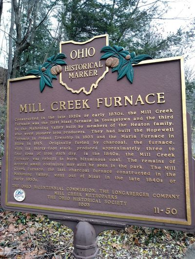 Boardman Ohio, USA Historical Marker Mill Creek Park Furnace The Purist (no Edit, No Filter) The Places I've Been Today Historic Site History Through The Lens  Historical Place Stonework 1800s Pioneer 1of 2