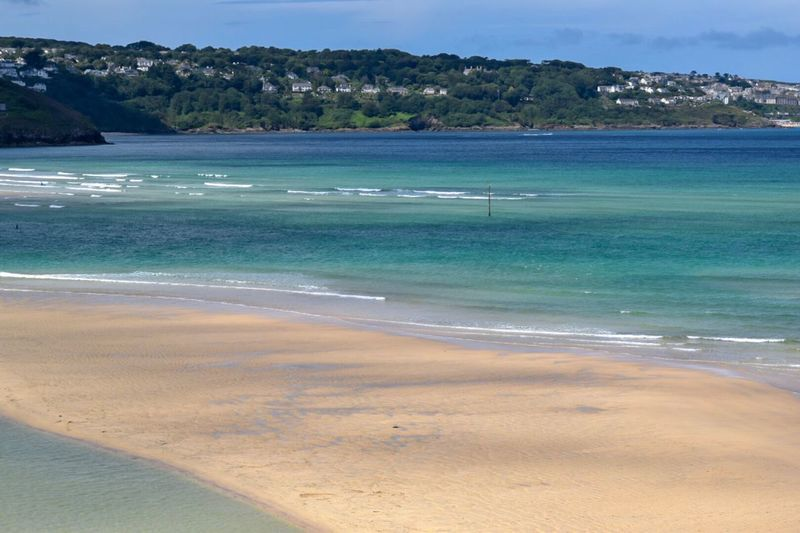 Beautiful beaches in Cornwall Brochure Advertising Copy Space Over Sand Golden Sands Turquoise Sea Summer Landscape Gwithian, Porthkidney And Surrounding Beaches Water Land Sea Beach Beauty In Nature Scenics - Nature Nature Sand Tranquility Outdoors Coastline Idyllic Blue Travel Destinations Summer Exploratorium Holiday Moments