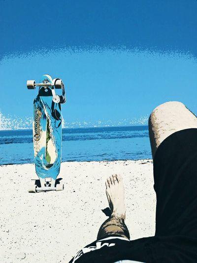 La vida algunas veces llega a ser estática. Longboard Beach First Eyeem Photo