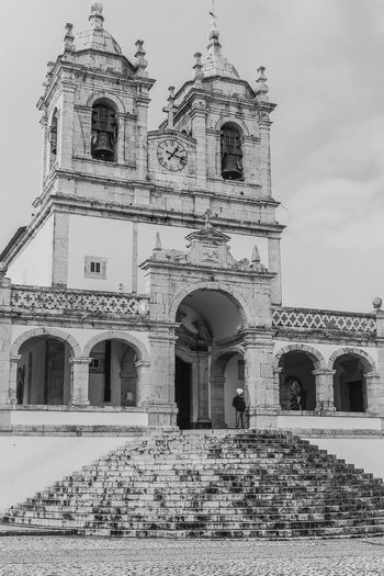 Church Blackandwhite Photography Peaceful Nazaré  Discovering Great Works