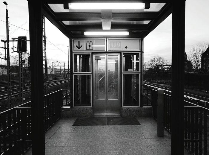 Day 229 - Elevator Berlin Blackandwhite Sbahn 365project 365florianmski Day229
