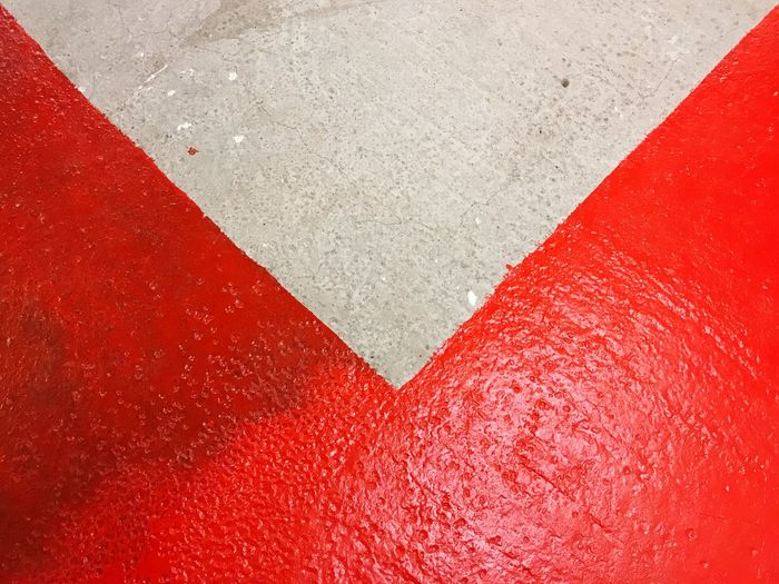 Ground Floor Paint Geometric Art Concrete Red Red Paint Floor Backgrounds Day Outdoors The Still Life Photographer - 2018 EyeEm Awards