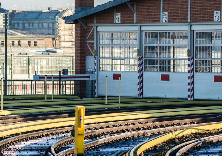 Tracks Against Railroad Station