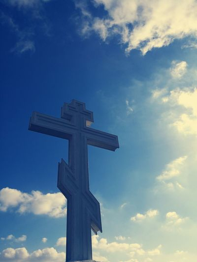 Cross Statue Cloud - Sky Sky Day Religion No People Outdoors Nature Beatiful Buatifulplace Butiful Religion
