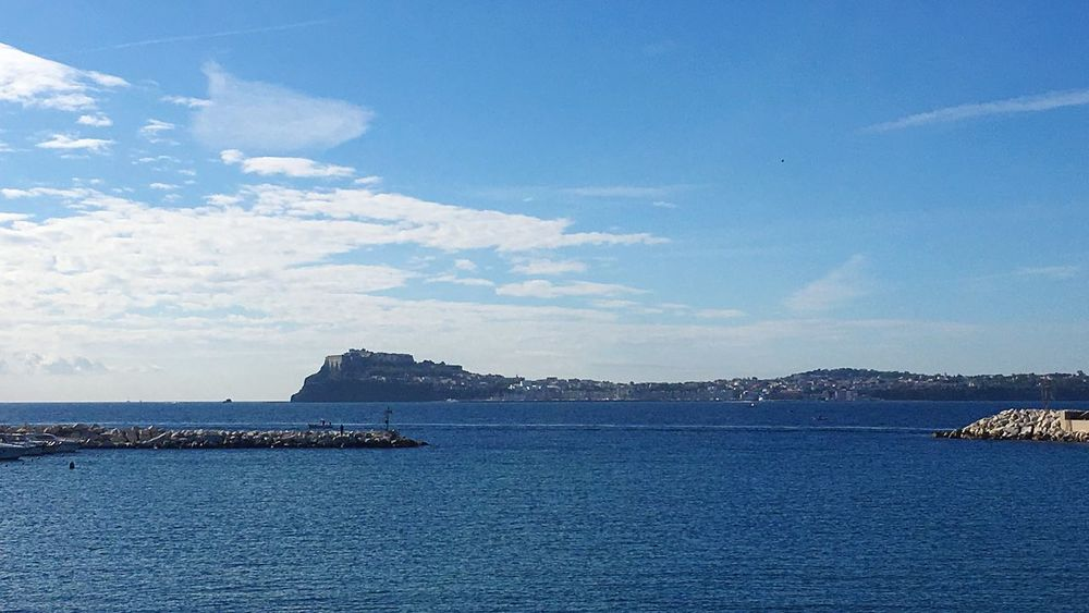 Sea Blue Water Nature Sky Procida
