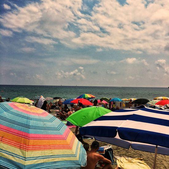 Beach Life Beach Umbrella Beach Cloud - Sky Sea Leisure Activity Vacations Eye4photography  IPhoneography Europe Italy Italia Summertime Albissola Marina #Summertime #AlbissolaMarina #ProvinceofSavona #Liguria #Italia #iPhoneography #LifeIsABeach Liguria,Italy #Savona #freelancephotographer #beachlife #EverydayItaly #streetphotography #Photojournalism #EverydayEurope #EverydayWesternEurope #JuanCarlos #freelance #icpmeetscamera #2017copyright
