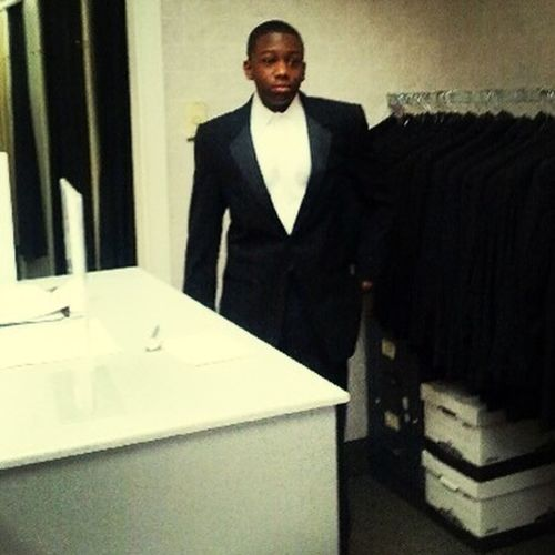 Geting My Tux For The Fashion Show