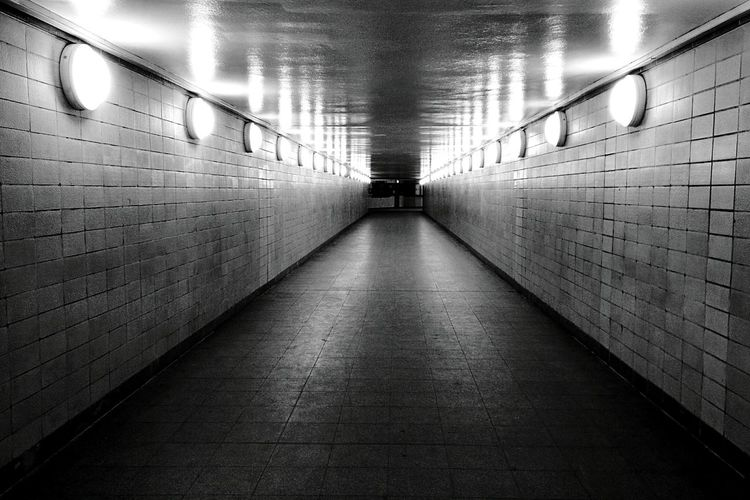 Day 206 - Corridor Berlin Blackandwhite Empty Places 365project 365florianmski Day206
