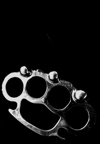 Black Background No People Close-up Blackandwhite Photography Brass Knuckles