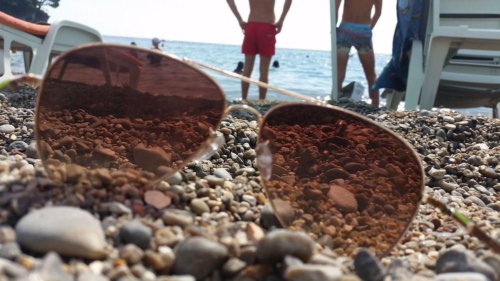 Sun Glasses Sun Sea Sky Petrovac Beauty Of Montenegro Beach Sunshine Relaxing Surf's Up Surf's Up!