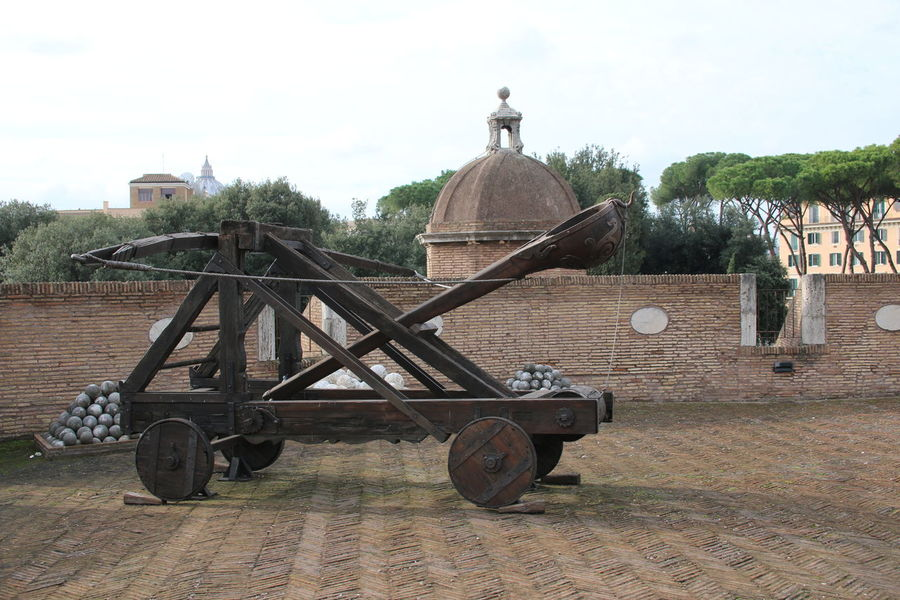 Ancient Ancient Architecture Ancient City Ancient History Canon Ball Castel Sant'Angelo Castle Catapult City Break Defence Dome History Italia Italian Italy Outdoors Rome Rome Italy Sky Tourism Tourist Travel Tree War