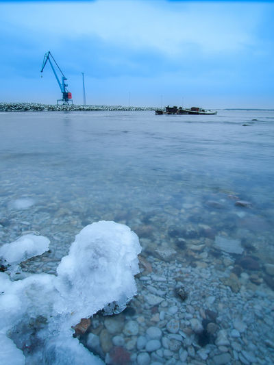 Baltic Sea Baltic Sea Winter Beauty In Nature Business Finance And Industry Cold Temperature Day Ice Nature No People Outdoors Seaside Sky Snow Water Winter Winter