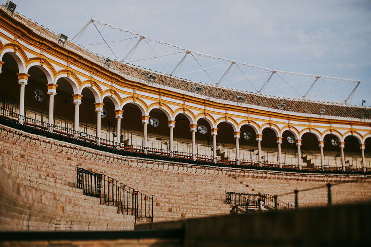 Built Structure Architecture Arch Sky Building Exterior Low Angle View History Outdoors Bullring SPAIN Sevilla Travel Destinations