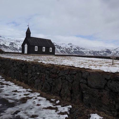 Black church in Iceland Blackchurch Iceland Cloud - Sky Building Exterior Building Architecture Built Structure Sky Snow