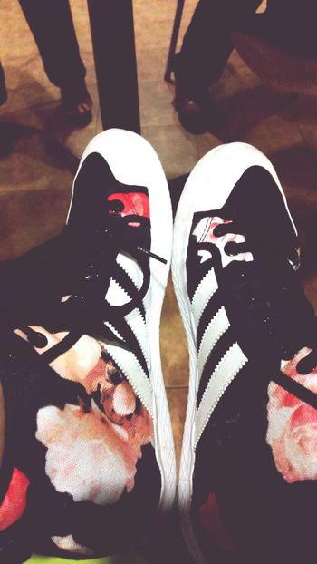 Adidas Flowers Highcut Roses Black White