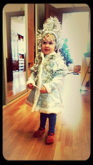 Baby Waiting For Christmas Russia Russian New Year