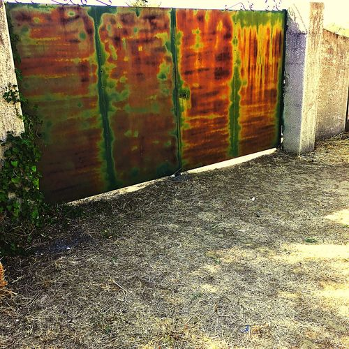 """""""Rothko gate"""" Building Exterior No People Outdoors Day Multi Colored Metal Metalwork Iron Rothko Gates Provence"""