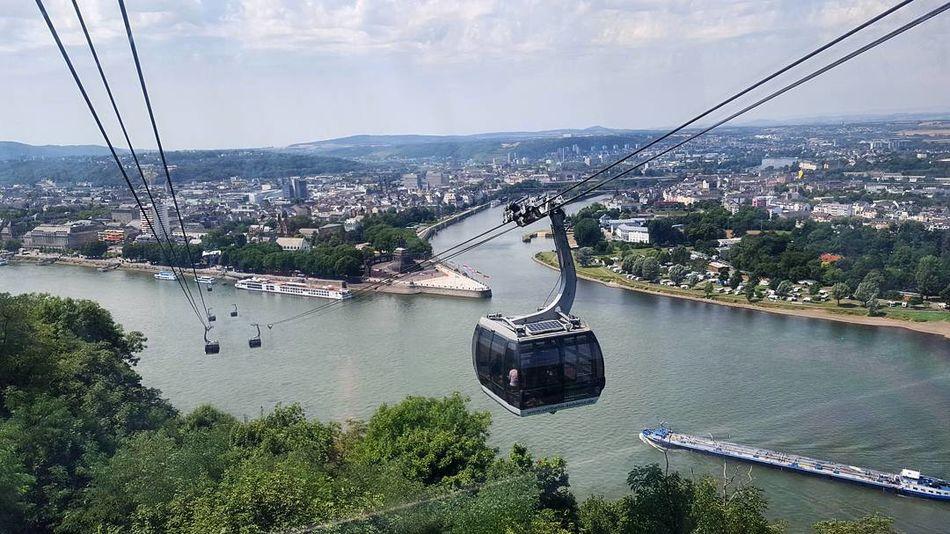 Koblenz Seilbahn Deutsches Eck Reihn Mosel